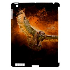 Art Creative Graphic Arts Owl Apple Ipad 3/4 Hardshell Case (compatible With Smart Cover)