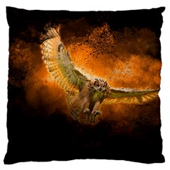 Art Creative Graphic Arts Owl Standard Flano Cushion Case (two Sides)