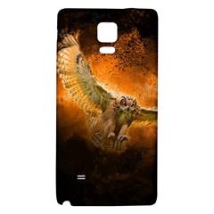 Art Creative Graphic Arts Owl Galaxy Note 4 Back Case