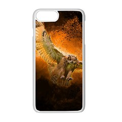 Art Creative Graphic Arts Owl Apple Iphone 8 Plus Seamless Case (white)