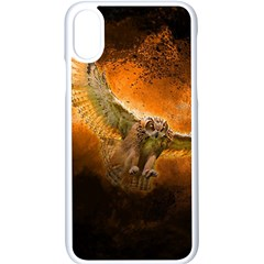 Art Creative Graphic Arts Owl Apple Iphone X Seamless Case (white)