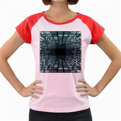 Abstract Perspective Background Women s Cap Sleeve T Shirt
