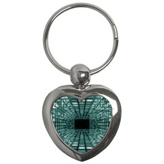 Abstract Perspective Background Key Chains (heart)
