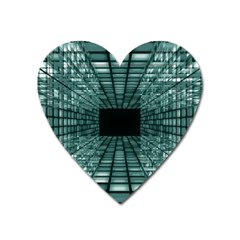 Abstract Perspective Background Heart Magnet