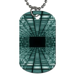 Abstract Perspective Background Dog Tag (two Sides)