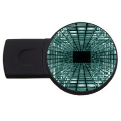 Abstract Perspective Background Usb Flash Drive Round (2 Gb)