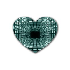 Abstract Perspective Background Rubber Coaster (heart)