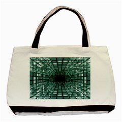Abstract Perspective Background Basic Tote Bag (two Sides)