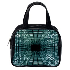 Abstract Perspective Background Classic Handbags (one Side)