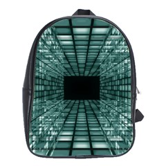 Abstract Perspective Background School Bag (large)