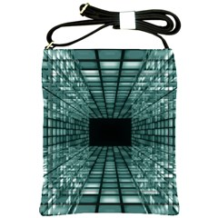 Abstract Perspective Background Shoulder Sling Bags