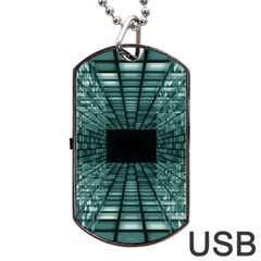 Abstract Perspective Background Dog Tag Usb Flash (two Sides)