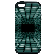 Abstract Perspective Background Apple Iphone 5 Hardshell Case (pc+silicone)
