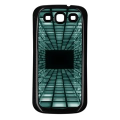Abstract Perspective Background Samsung Galaxy S3 Back Case (black)