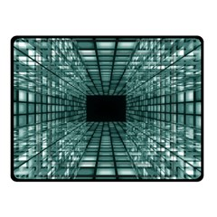 Abstract Perspective Background Double Sided Fleece Blanket (small)