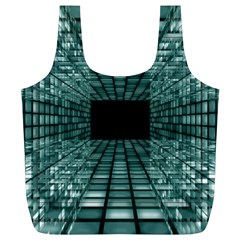 Abstract Perspective Background Full Print Recycle Bags (l)
