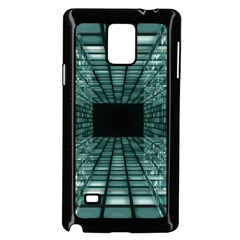 Abstract Perspective Background Samsung Galaxy Note 4 Case (black)