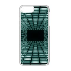 Abstract Perspective Background Apple Iphone 8 Plus Seamless Case (white)