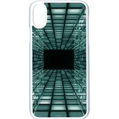 Abstract Perspective Background Apple Iphone X Seamless Case (white)