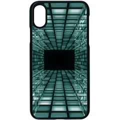 Abstract Perspective Background Apple Iphone X Seamless Case (black)