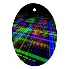 Electronics Board Computer Trace Ornament (oval)