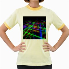Electronics Board Computer Trace Women s Fitted Ringer T Shirts