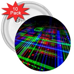 Electronics Board Computer Trace 3  Buttons (10 Pack)