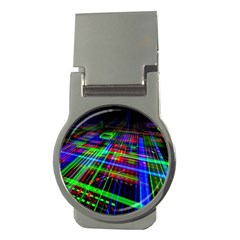 Electronics Board Computer Trace Money Clips (round)