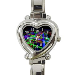 Electronics Board Computer Trace Heart Italian Charm Watch