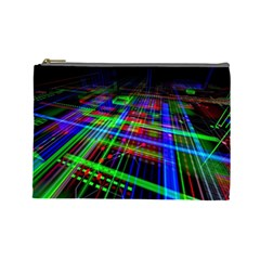 Electronics Board Computer Trace Cosmetic Bag (large)
