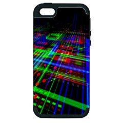 Electronics Board Computer Trace Apple Iphone 5 Hardshell Case (pc+silicone)