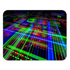 Electronics Board Computer Trace Double Sided Flano Blanket (large)