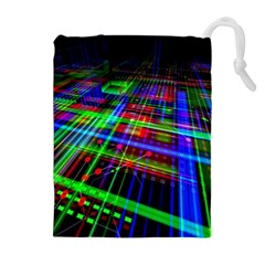 Electronics Board Computer Trace Drawstring Pouches (extra Large)