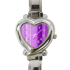 Background Texture Pattern Purple Heart Italian Charm Watch