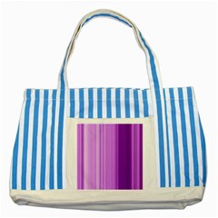 Background Texture Pattern Purple Striped Blue Tote Bag