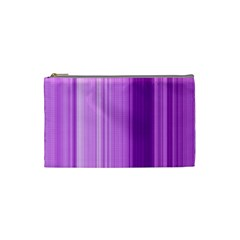 Background Texture Pattern Purple Cosmetic Bag (small)