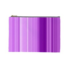 Background Texture Pattern Purple Cosmetic Bag (large)