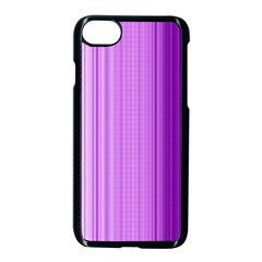 Background Texture Pattern Purple Apple Iphone 8 Seamless Case (black)