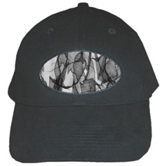 Abstract Black And White Background Black Cap