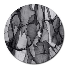 Abstract Black And White Background Round Mousepads