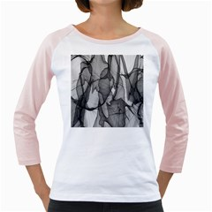 Abstract Black And White Background Girly Raglans