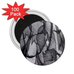 Abstract Black And White Background 2 25  Magnets (100 Pack)