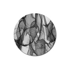 Abstract Black And White Background Magnet 3  (round)