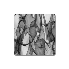 Abstract Black And White Background Square Magnet
