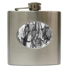 Abstract Black And White Background Hip Flask (6 Oz)