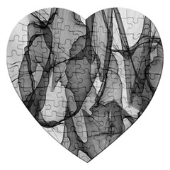 Abstract Black And White Background Jigsaw Puzzle (heart)