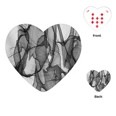 Abstract Black And White Background Playing Cards (heart)
