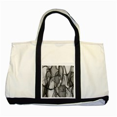 Abstract Black And White Background Two Tone Tote Bag