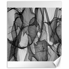 Abstract Black And White Background Canvas 16  X 20