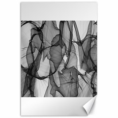 Abstract Black And White Background Canvas 24  X 36